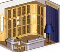 мебель для библиотеки из массива сосны