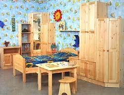 Мебель из сосны - всегда светлое местечко для Вашего малыша!
