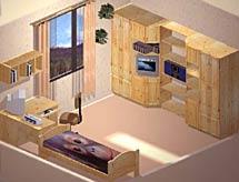 Дизайн комнаты подростка двоих