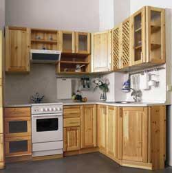 Кухня из сосны для маленькой кухни
