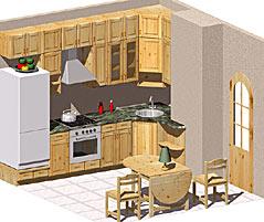 Набор кухонной мебели из сосны
